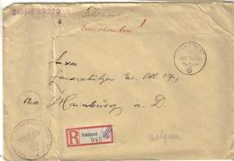 2. Wk Feldpost Einschreiben 486 Vom 08.4.44 Von 29229 An Lds.Schtz. Btl - Front - Front Beleg - Covers & Documents