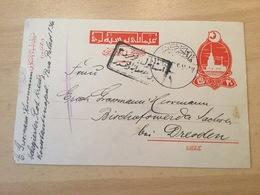 GÄ26291 Türkei Ganzsache Stationery P 47 Von Pera Nach Bischofswerda Rotes Kreuz Delegierter - 1858-1921 Impero Ottomano