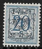 België Typo Nr. 616 - Typo Precancels 1936-51 (Small Seal Of The State)