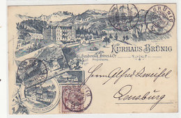 Kurhaus Brünig - Super Vorläuferlitho - 1889 ! - Top Zustand      (P-206-90427) - BE Berne