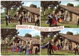 Cp 40 Danses Landaises Du Groupe Lous Becuts De Countis 1976 - Otros Municipios