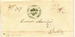 STORIA POSTALE LAGO DI COMO 1863 MALGESSO CON TESTO X BREBBIA - Italia