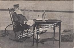 KONING LEOPOLD II 1909 RECLAME ELIXIR D'ANVERS DE BEUKELEER, ROI LEOPOLD II LIQUEUR BALSAM APERITIF Dubbelganger, Sosie? - Königshäuser