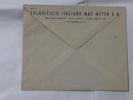 BUSTA COMMERCIALE COLORIFICIO ITALIANO MAX MEYER S.A.MILANO TIMBRO MECCANICO - Pubblicitari