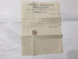 FATTURA PUBBLICITARIA REMO FRANZETTI FABBRICA BICICLETTE BREBBIA 1926 . - Pubblicitari