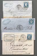 France N°60 - Lot De 3 Lettres - (B1819) - 1849-1876: Klassieke Periode