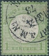 Germania Germany Deutschland,1872 Definitives 1KR. Green,used Hinged,Value €80,00 - Deutschland