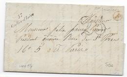ISERE - 1852 - LETTRE De ST ISMIER Avec BOITE RURALE F + CURSIVE De CROLLES D'ISERE + TAXE 25 - 1849-1876: Période Classique