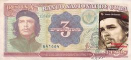 ERNESTO CHE GUEVARA - BILLETE DE CUBA CON ESPAMPILLA FDC, AÑO 1997. TICKET WITH STAMP, BILLET AVEC TIMBRE. RARO -LILHU - Cuba