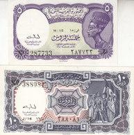 EGYPT 5 10 PT. PIASTRES 1961 P-180a 181a SIG/ Baghdady SET EF+ HIGH CRISP */* - Egypt