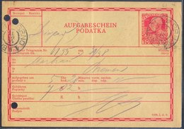 CZECHOSLOVAKIA - AUSTRIA  K,u.K. - AUFGABESCHEIN  PODATKA - BRNO - 1914 - Tchécoslovaquie