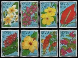 Nevis 1993 - Mi-Nr. 742-749 ** - MNH - Blumen / Flowers - St.Kitts Und Nevis ( 1983-...)