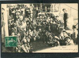 CPA - BREST - Le Dimanche à Bord - La Partie De Loto, Très Animé - Guerre