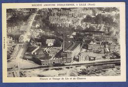 CPA NORD (59) - LILLE - SA D'ESQUERMES - FILATURE ET TISSAGE DE LIN ET DE CHANVRE - Lille
