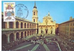 LORETO PELLEGRINI DEI TRENI BIANCHI    FDC  1994 MAXIMUM POST CARD (GENN200040) - Geografia