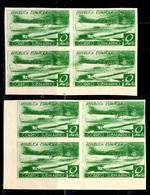 Espagne YT N° 625C (non-émis) Deux Blocs De Quatre Timbres Non Dentelés Neufs ** MNH. TB. A Saisir! - 1931-50 Neufs