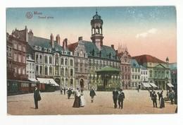 Mons Grand Place Carte Postale Ancienne Animée - Mons