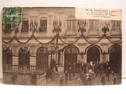 CPA RAYMOND POINCARE A BRIVE 1913 AVEC LE PRESIDENT SORTANT DU BANQUET 702 - People