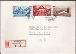 Lettre Suisse / Switzerland - Recommandé - Timbres 420/2 - Côté 35 .00€ - Storia Postale