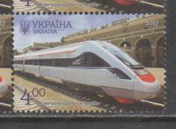 UKRAINE , 2017, MNH, TRANSPORT, TRAINS, 1v - Trains