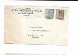 1955 ESPAGNE HOTEL INTERNATIONAL BARCELONA - Marcofilia - EMA ( Maquina De Huellas A Franquear)