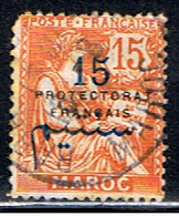 MAROC,BUREAUX 325 // YVERT 30 // 1911-17 - Usados