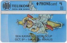PAPUA NEW GUINEA A-058 Optical Telikom - Event, Sport, Kajaking - MINT - Papoea-Nieuw-Guinea