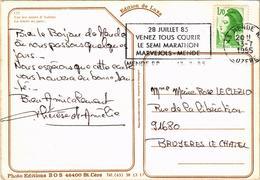 LA TRAITE SUR LES MONTS D'AUBRAC -cachet Du Semi Marathon Marvejols Mende - Carte Postée Le 13.07.1985 - Koeien