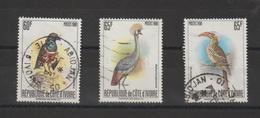 Cote D'Ivoire 1980 Oiseaux 565ABC 3 Val Oblit Used - Côte D'Ivoire (1960-...)