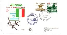 PREMIER VOL AIRBUS ROME-TEL AVIV-ROME PAR AIRBUS ALITALIA 1980 - Vliegtuigen