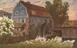 """The River Mill"" Nice Vintage German Postcard - Cartoline"