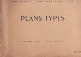 """55 Planches """"ministère De La Recontruction Et De L'urbanisme"""" Plans Types - Architecture"""