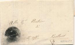 STORIA POSTALE LAGO DI COMO 1860 VENDROGNO CERCHIO IN NEGATIVO CON TESTO PER BELLANO - Italie