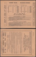 CONGO BELGE CARNET N°5 COMPLET AVEC TOUS LES INTERCALLAIRES PUBLICITAIRES SUPERBE ETAT  (DD) DC-5495 - Carnets