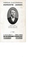 Accordéons Augusto JADOTI Granville PARIS Wagner, Castellengo, Di Mascio, Belloc - 1900 – 1949