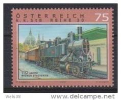 """Österreich 2008: """"Eisenbahnen"""" Postfrisch (siehe Scan/Foto) - 1945-.... 2. Republik"""