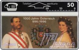 """TWK Österreich Privat: """"1000 J. Österreich - Kaiserpaar"""" (310L) Gebr. - Austria"""