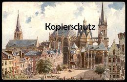 ALTE POSTKARTE OILETTE RAPHAEL TUCK POSTCARD DEUTSCHE STÄDTE SERIE AACHEN No. 178 B KÜNSTLER CHARLES F. FLOWER Postcard - Tuck, Raphael
