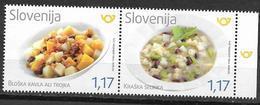 SLOVENIA, 2019, MNH, FOOD, SLOVENIAN CUISINE, FRUIT, BEANS, CELERY,2v - Alimentation