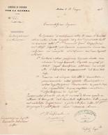 Carta Intestata COMITATO DI CONCORSO PER LA GUERRA Modena 1866 - III Guerra Ind. - Decreti & Leggi
