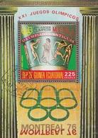 Guinea Equatorial 1975 Bf. 201 XXI Olimpiade Montreal - Antiche Olimpiadi Sheet Perf. CTO - Estate 1976: Montreal
