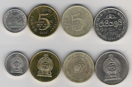 Sri Lanka  25 Ct. 82, 1 Rp, 94, 5 Rp. 95 UNO, 5 Rp. 06 - Sri Lanka