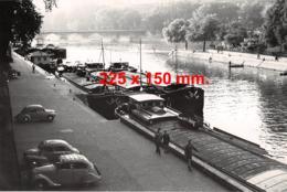 Bateaux - Ensemble De Péniches à Quai - Dim. 225 X 150 Mm - Barche