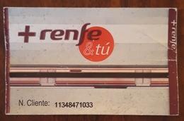 ESPAÑA TREN. TARJETA RECARGABLE RENFE & TÚ. - Week-en Maandabonnementen