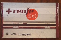 ESPAÑA TREN. TARJETA RECARGABLE RENFE & TÚ. - Abonnements Hebdomadaires & Mensuels