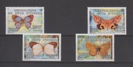 Cote D'Ivoire 2005 Papillons 1148-51 4 Val ** MNH - Côte D'Ivoire (1960-...)