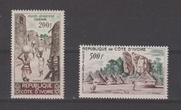 Cote D'Ivoire 1962 Sites PA 23-24 2 Val ** MNH - Côte D'Ivoire (1960-...)