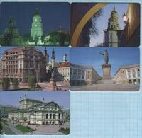 UKRAINE / Phone Cards / Phonecards / Utel / Schlumberger / Kyiv, Lviv, Odessa. Sights Of Cities. Architecture 1997-1998 - Ucraina