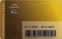 SPAGNA KEY HOTEL     Hotel PorAventura - 15 Anys - Hotelkarten