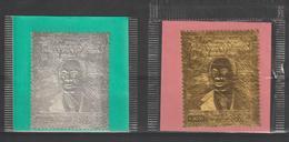 Cote D'Ivoire 1980 Houphouet Boigny Argent Et Or PA 75-76 2 Val ** MNH - Costa D'Avorio (1960-...)